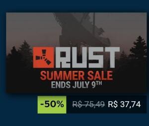 [Steam] RUST | 50% OFF | R$ 38