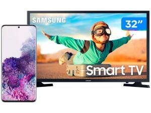 "Smartphone Samsung Galaxy S20+ 128GB Cosmic Gray + Smart TV LED 32""   R$ 5.399"