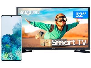 "Smartphone Samsung Galaxy S20+ 128GB Cloud Blue + Smart TV LED 32"" | R$ 5.399"