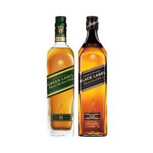 Whisky Johnnie Walker Green Label 750ml + Whisky Black Label 750ml