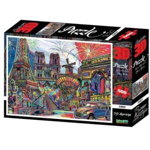 Multikids Quebra Cabeça Super 3D Modelo Paris com 500 Peças Multikids [AME]