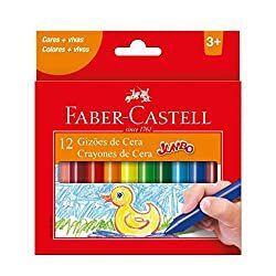 Gizão de Cera, Faber-Castell 12 Cores tamanho Jumbo [PRIME]