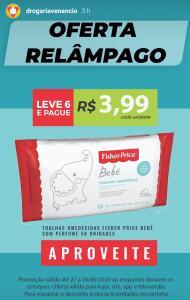 [RJ] Toalhas umedecidas bebê com perfume, 50 unidades. Leve 6 e pague R$ 3,99 em cada.