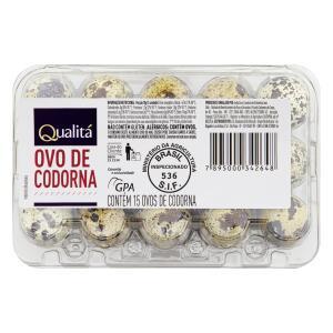 Ovos de Codorna QUALITÁ Bandeja - 15 unidades | R$2