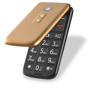 [AME R$ 125] Celular Flip Vita Multilaser Dual Chip Mp3 Dourado - P9043 R$ 167