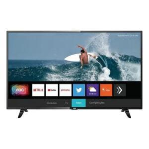 [1200 AME] TV Smart 43 Polegadas Full HD LED HDR AOC 43S5295 R$ 1329