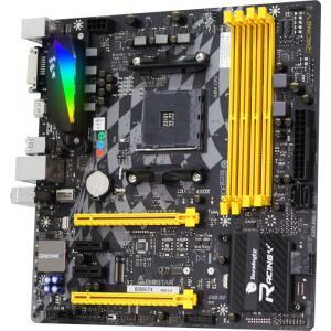 Placa Mãe Biostar Racing B350GTX, Chipset B350, AMD AM4, DDR4 | R$522