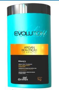 Evolution Argan Bionutrição de Impacto Máscara, 1 Kg, Griffus Cosméticos, Multicor | R$24