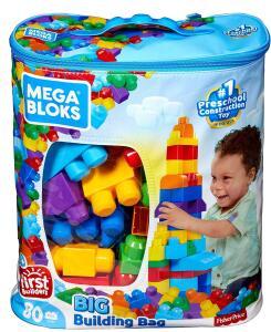 Sacola de 80 Blocos, Mega Bloks, Mattel R$ 66