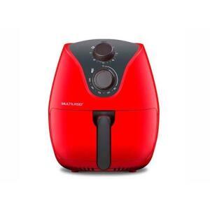 Fritadeira Elétrica / AirFryer Multilaser Sem óleo CE083 Vermelho 4L 1500W 110V | R$ 270