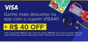 [VAI DE VISA] R$ 40 OFF no APP Mercado Livre - A partir de R$ 60