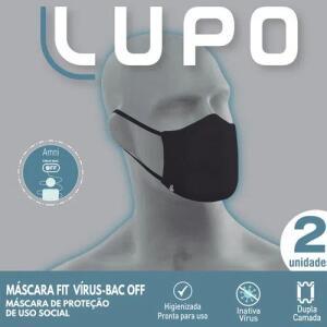 Máscara Fit Bac Off - Kit com 2 Unidades | R$18