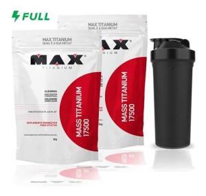 [Frete Grátis] Combo 2x Mass Titanium 17500 - 3kg + Brinde - Max Titanium