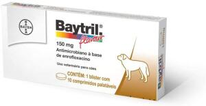 Antibiótico Baytril Bayer Flavour 150mg, 10 Comprimidos
