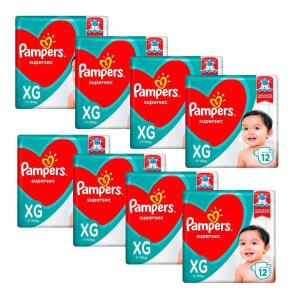 Fralda Pampers XG 96 tiras | R$30