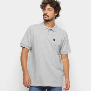 Camisa Polo Oakley Básica Patch 2.0 - Cinza