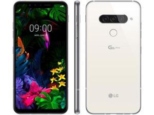 "Smartphone LG G8S 128GB Branco 4G Octa-Core - 6GB RAM Tela 6,21"" Câm. Tripla + Selfie 8MP"