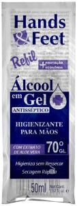 Álcool em Gel Hands &' Sachê 50ml, Skafe | R$2