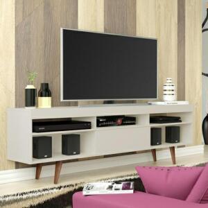 Rack Linea Retrô - Off White - TV até 60 | R$180