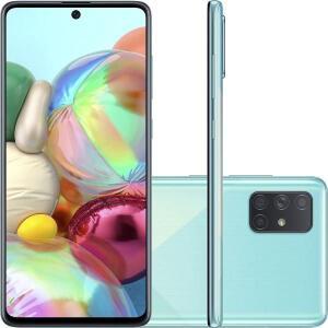 "Samsung Galaxy A71 Azul 6,7"" 128gb 6g Quadcâmera 64MP+12MP+5MP+5MP"