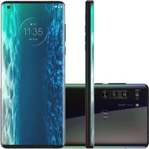 "Smartphone Motorola Edge 128 GB Dual Chip Android 10 6.7"" Qualcomm Snapdragon 5G Câmera 64MP + 16MP +8MP - Solar Black"