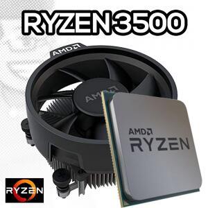 Processador AMD Ryzen 5 3500 3.6GHz (4.1GHz Turbo), 6-Cores 6-Threads, Cooler Wraith Stealth, AM4, 100-100000050MPK, S/ Video