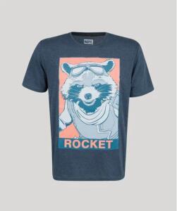 Camiseta masculina rocket guardiões da galáxia