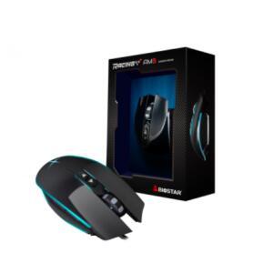 Mouse Gamer Biostar Racing AM3, 5000 DPI, 7 Botões, Black