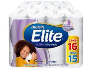 [APP CLUBE DA LU] 6x Papel Higiênico Folha Dupla Elite Ultra - 16 Rolos 30m | R$81