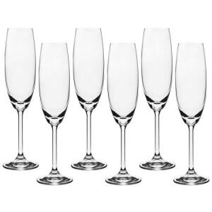 Jogo 06 Taças Champagne 220 Ml Anna Bohemia