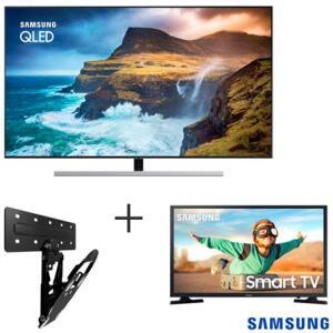 Samsung q80r qled 4k 55 + Smart TV T4300 32 + Suporte