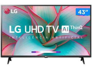 "Smart TV 4K LED IPS 43"" LG 43UN7300PSC Wi-Fi-Bluetooth Inteligência Artificial 3 HDMI 2 USB"