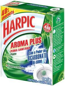 (R$ 1,61) Pedra Sanitária Aroma Plus Pinho, Harpic
