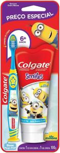 (Prime) Kit Colgate Smiles 2 unid Escova Dental + Creme Dental Minions 100ml