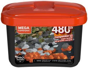 Caixa Pro Blocos de Montar, 480 peças, Mega Construx, Mattel R$ 90