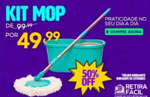 Kit Mop 50% com retirada grátis na Havan