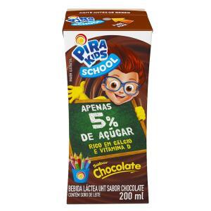 (R$ 0,76) Bebida Láctea Sabor Chocolate Pirakids School 200ml