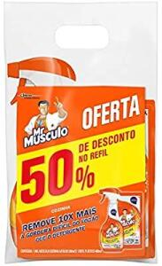 [PRIME] Limpador Cozinha Total Pack Gatilho 500 ml e Refil 500 ml, Mr. Músculo, pacote de 2