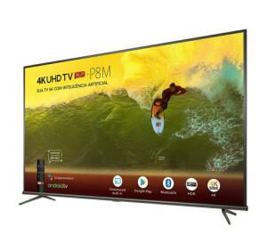 "Smart TV 4k LED 55"" SEMP TCL 55P8M Android Wi-FI Bluetooth HDR Inteligência Artificial 3HDMI 2USB"