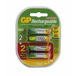 [Americanas + Prime + Ame] Pilha Recarregável AAA 1000mah GP Blister C/4 Pilhas   R$39