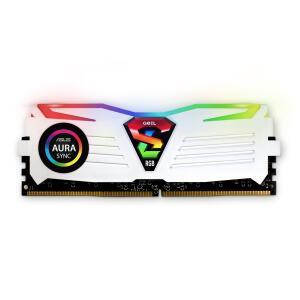 Memória DDR4 Geil Super Luce RGB, 8GB 3000MHZ, White, GALWS48GB3000C16ASC | R$ 299