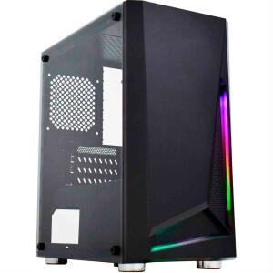 Gabinete Gamer CG-01KT Hawk II RGB Preto K-MEX   R$149