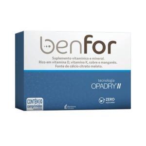Benfor Com 30 Comprimidos Revestidos - VENCE EM 09/2020 | R$ 7