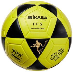 [Prime] Bola de Futevôlei FT-5 Amarela e Preta Mikasa | R$ 238