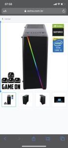 PC Gamer Computador Intel Core i5 10GB HD 500GB Nvidia Geforce GT EasyPC Light 2