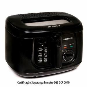 Fritadeira Elétrica Mondial Big Fry 2,5l Preta R$ 198