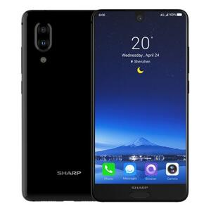 Sharp Aquos S2(C10) Global Version 4GB 64GB Snapdragon 630 4G 12MP+8MP Dual Cameras Smartphone 5.5 FHD + NFC - Black