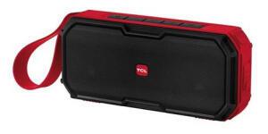 Caixa de Som Bluetooth TCL BS30B à Prova D Água 30W Preta e Vermelha | R$ 255