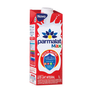Leite Integral UHT Parmalat Max 1 Litro R$ 3