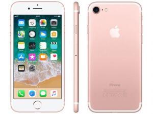 "iPhone 7 Apple 32GB Ouro Rosa 4G Tela 4.7"" Retina - Câm. 12M R$ 1754"